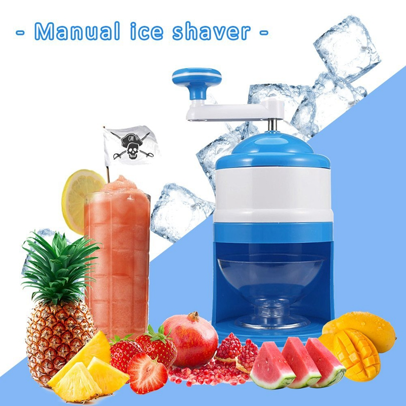 Household Easy Ice Shaver Crusher Handheld Snow Manual Crushing Ice Machine