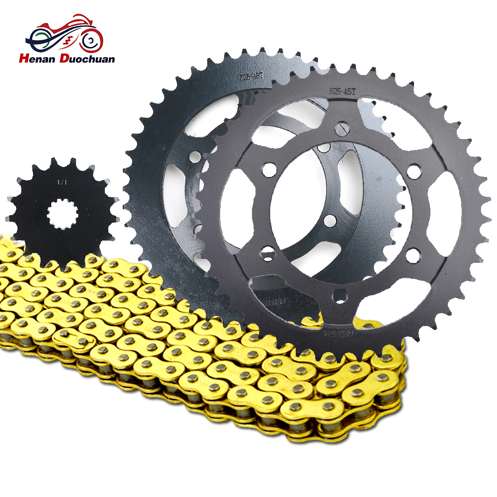 525 17T 45T <font><b>48T</b></font> Motorcycle Chain and Front Rear <font><b>Sprocket</b></font> Set for Suzuki GSXR1000 GSX-R1000 GSXR GSX-R 1000 R GSXR1000R 2017 2018 image