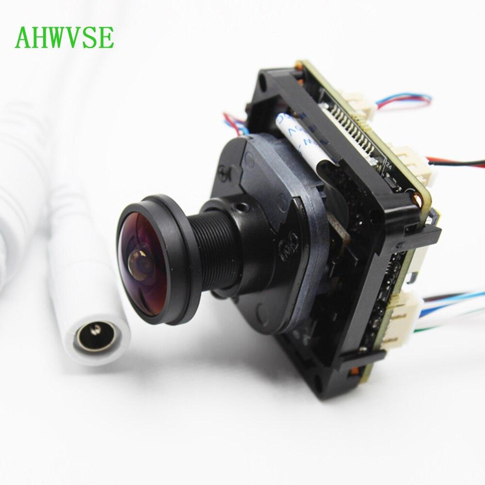 Vue large 1.8mm poisson oeil lentille H.265 IPC Board 1920 P 5MP IP bricolage CCTV IP caméra module PCB carte avec IRCUT ONVIF APP XMEYE