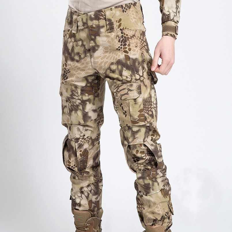 Outdoor Pro Militaire Tactische Camouflage Camping Wandelen Broek Man Army Rip-Stop Sport Broek Anti-pilling Combat Broek