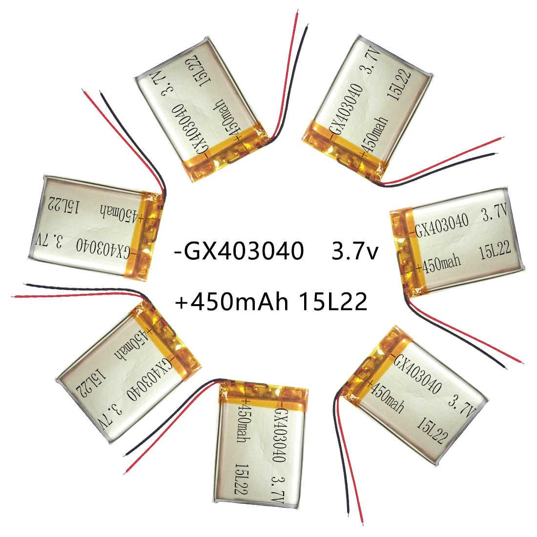 450 мАч 3,7 в 403040 литий-полимерный Li-Po литий-ионный аккумулятор для тахографа Автомобильный видеорегистратор Bluetooth динамик камера Lipo ячейки