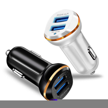 12V-24V Dual USB 2 Ports Car Charger 3.1A Fast Charging For iPhone X XR XS Max Smartphone Power Adapter
