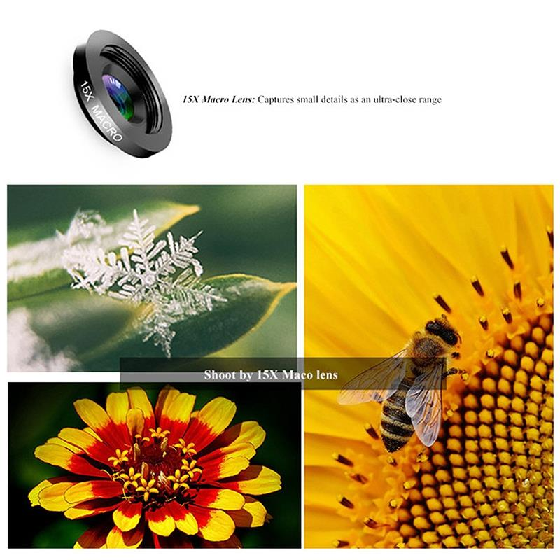 Image 5 - Phone Camera Lens,6 In 1 Cell Phone Lens Kit For Iphone And Android, Kaleidoscope Wide Angle+Macro Cpl Fisheye Telephoto Zoom-in Camera Lens from Consumer Electronics