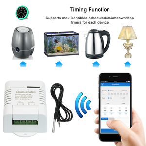 Image 4 - eWeLink TH 16 RF 433MHz Smart Wifi Switch 16A/3500W Monitoring Temperature Wireless Home Automation Kit with Waterproof
