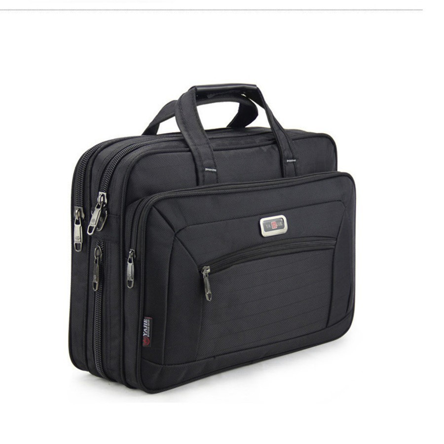 Quality Men's Briefcases Brand Men Business Handbags Waterproof Durable Oxford 15.6
