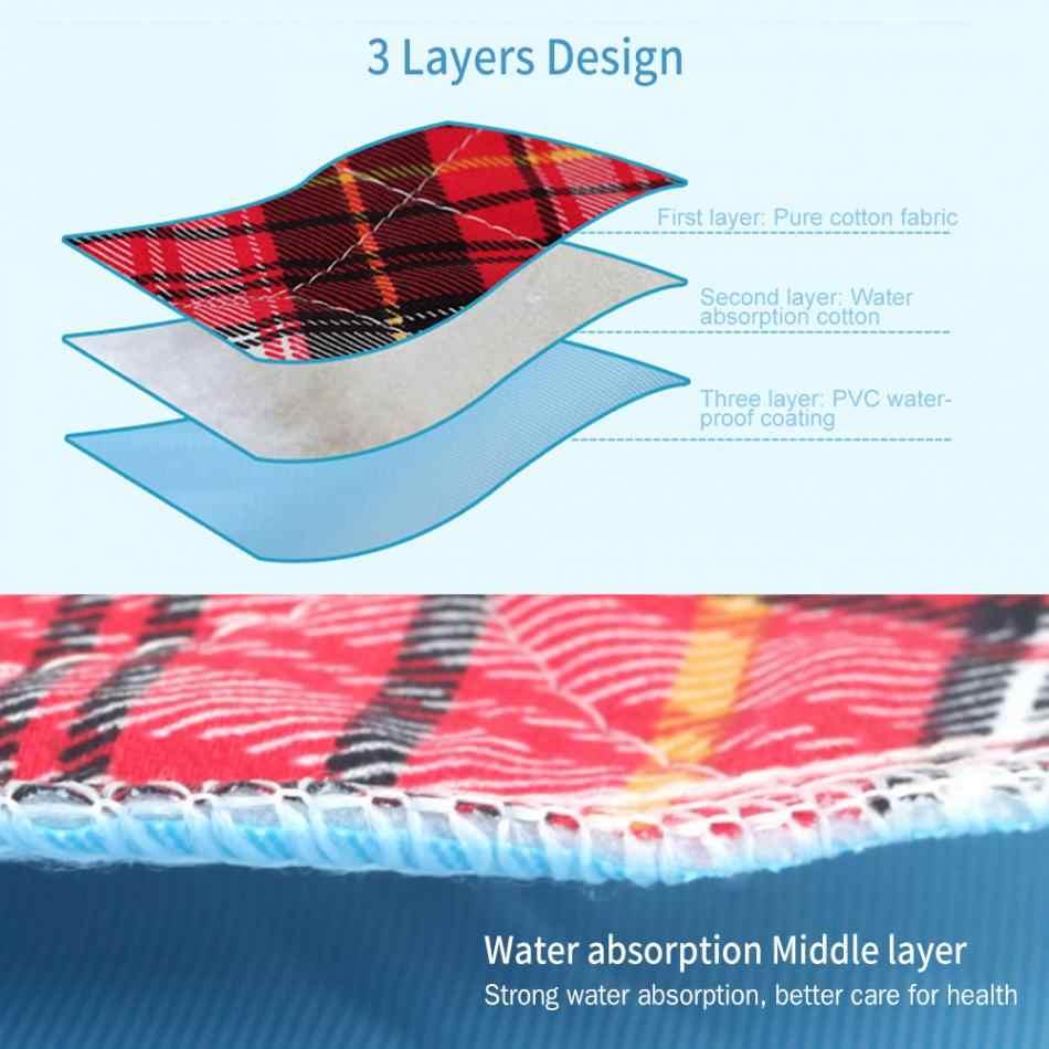 3 слоя мочи коврик многоразовый взрослый вкладыш в подгузник вкладыши детские тканевые салфетки подгузник моющийся утолщенный Elder недержание мочи коврик