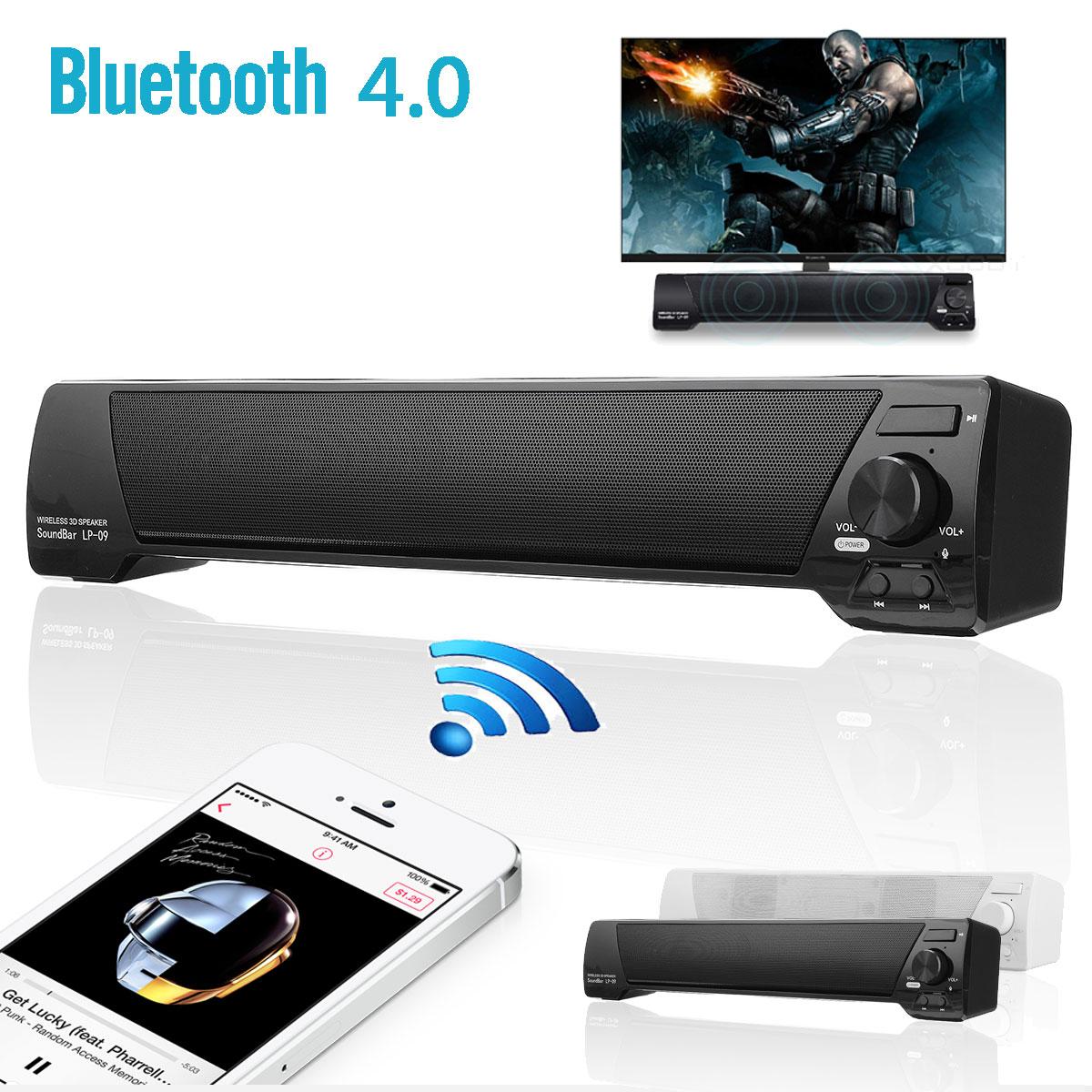 Wireless Bluetooth Soundbar Speaker System Home TV Theater Subwoofer Stereo USB Aux TF Sound Bar
