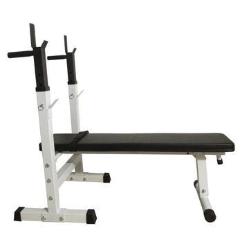 BS-222 Fitness ławeczka do ćwiczeń biały czarny dobrej jakości przydatne sprzęt