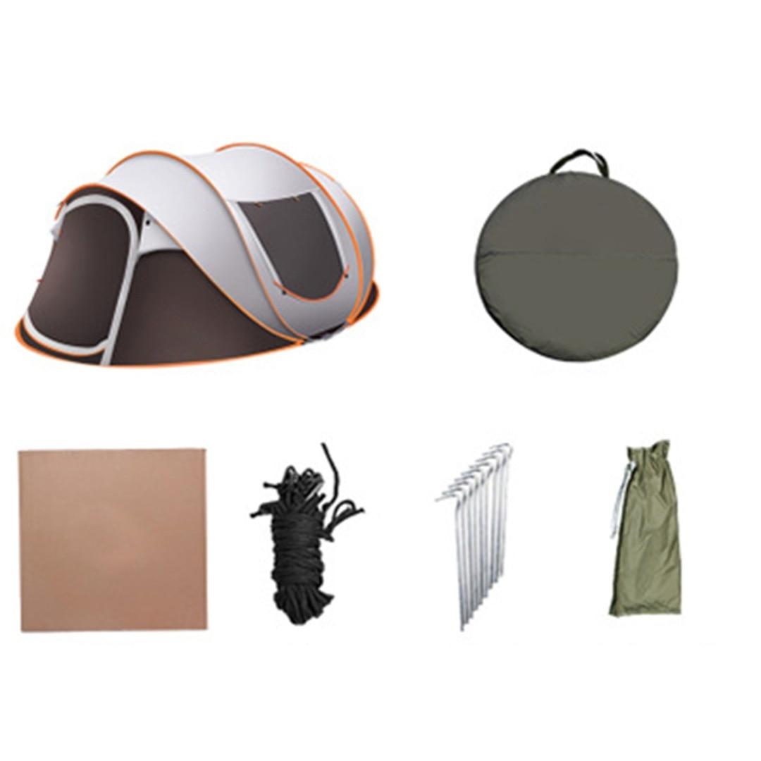 Tente instantanée enduite imperméable de la famille 210D de tissu d'oxford pour le Cmaping de famille et les activités extérieures