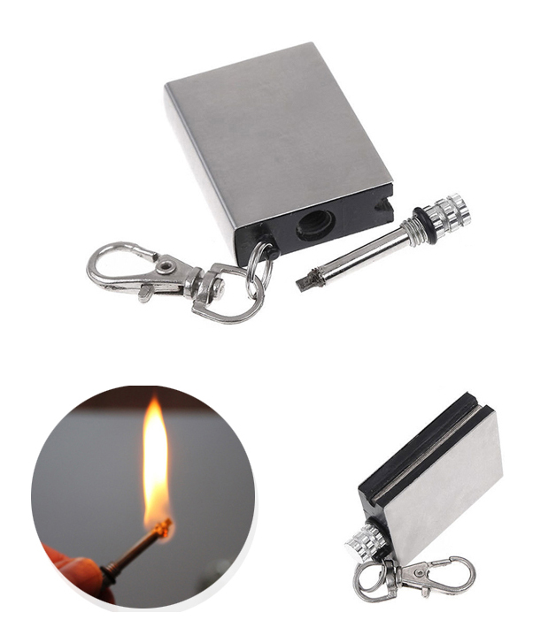 metal match fire starter survival tool flint stone lighter and magnesium fire starter