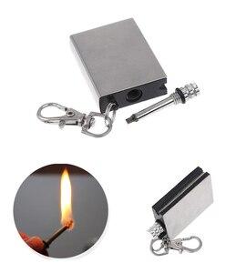 Metal match Fire starter tool flint stone lighter gas Cigar firesteel travel oil magnesium outdoor survive camp hike Cigarette(China)