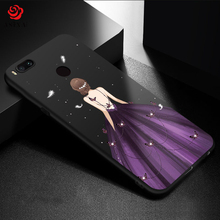 ASINA Luxury Silicone Case For Xiaomi Mi A2 Case Cover 3D Relief Shockproof Bumper For Xiaomi Mi A2 Lite Mi 8 Lite Phone Cover luanke litchi grain phone cover for xiaomi mi a2 lite