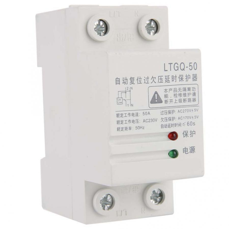 230V Adjustable Automatic Reconnect Over And Under Voltage Protection Relay