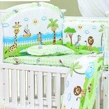 120*70 см, 6 шт., чистый хлопок, бампер для детской кровати, съемное постельное белье для новорожденных, детская кроватка, бампер, декор для детской комнаты, детское постельное белье