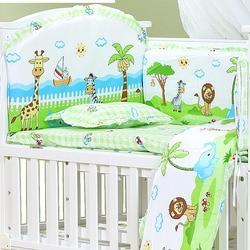 120*70cm 6 stuks Pure Katoenen Baby Bed Bumper Verwijderbare Pasgeboren Baby Beddengoed Wieg Bumper Baby Room Decor kinderen beddengoed
