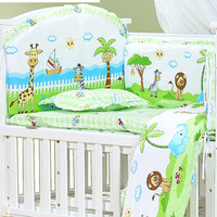 120*70cm 6pcs Pure Cotton Baby Bed Bumper Removable Newborn Baby Bedding Crib Bumper Baby Room Decor Kids bedding