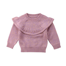 hot deal buy cute toddler kids girls long sleeve sweaters fashion baby girl knit sweater pullovers newborn baby warm sweaters outerwear 0-3y