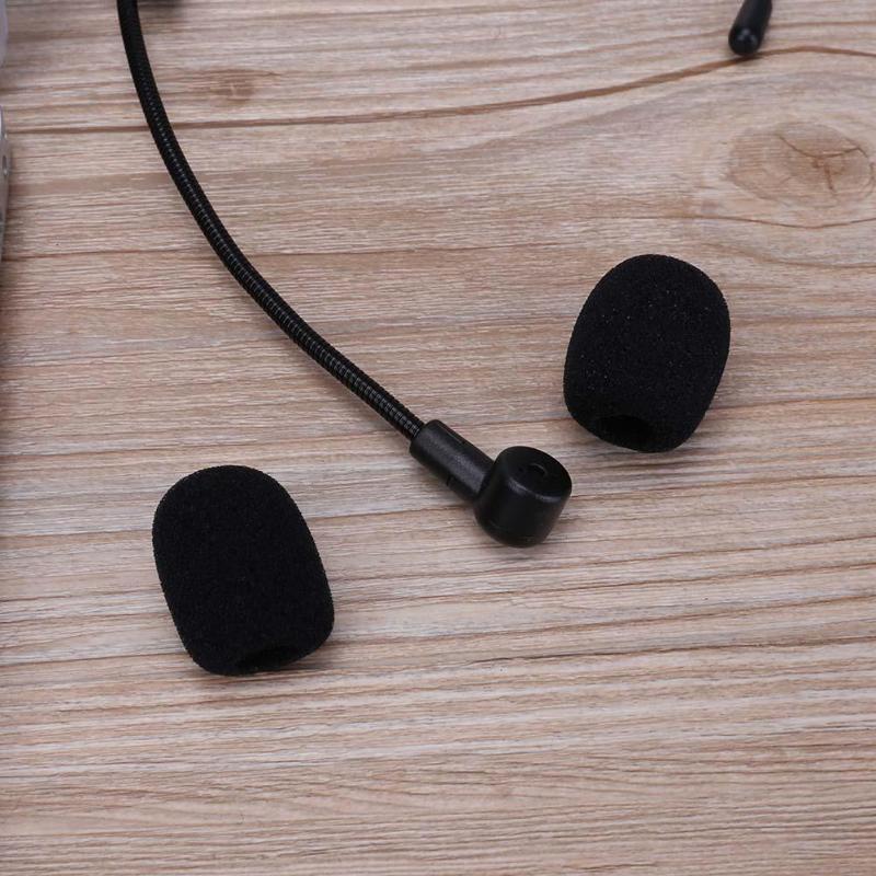 5pcs/pack Soft Elastic Sponge Microphone Head Cover Windscreen Mic Cover For Headset Collar Mic