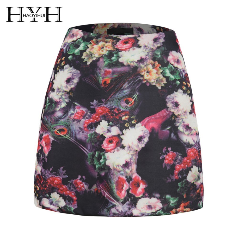 HYH HAOYIHUI 2019 New Summer Hot Youth Sweet Girl Flower Youth Vitality Fashion Print Skirt Skirt in Skirts from Women 39 s Clothing