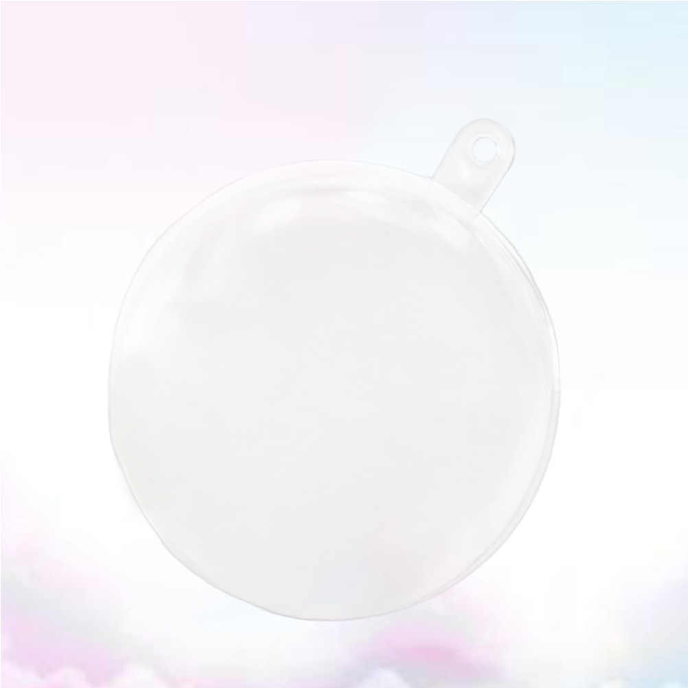 10Pcs Transparent Plastic Ball Hollow Snap-On DIY Sphere Fill-able Acrylic  Balls Bath Bomb Mold Xmas Hanging Ornament