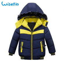 Winter Kids Parka Casual Outerwear Boys Down Jacket New Year's Costumes For Boys Warm Child Fur Hooded Coat Clothing Clothes D20 цена 2017