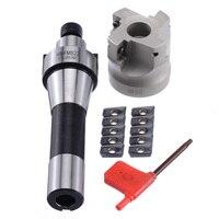 400R 50 MM Frezen CNC End Mill Cutter Kit + 10 pcs APMT1604 Carbide Inserts + R8 Schacht Prieel voor Power Machine Tool