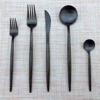 JASHII 30pcs Rainbow Rose Gold Top Quality Cutlery Set Dinnerware Scoops Set Dinner Knife Stainless Steel Tableware Set