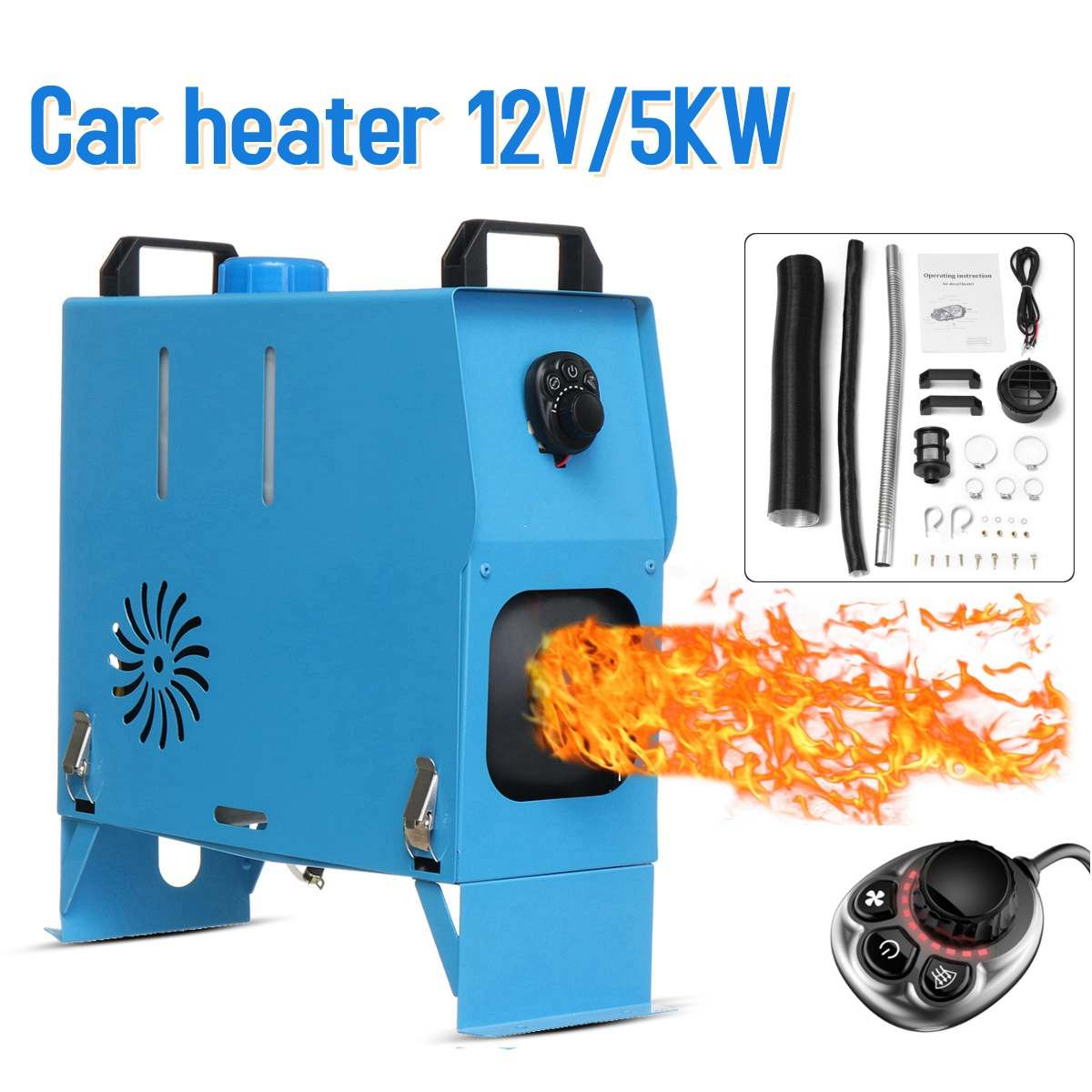 All In One 5000W Air Parking diesels Heater 5KW 12V One Hole Car Heater For Trucks Motor-Homes Boats Bus +Knob SwitchAll In One 5000W Air Parking diesels Heater 5KW 12V One Hole Car Heater For Trucks Motor-Homes Boats Bus +Knob Switch