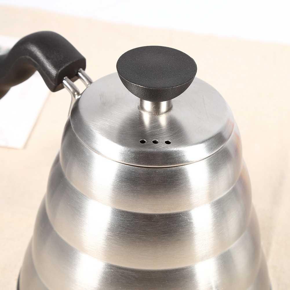 Ручная капельная Кофеварка на гусиную шею из нержавеющей стали 304, капельная инфузионная 1 л, чайник со свистком, Кофеварка, аксессуары, новинка