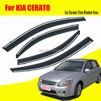 Car Awnings Shelters Window Visors Sun Rain Shield Sticker Cover Plating Chrome Trim Auto Accessories For KIA Cerato