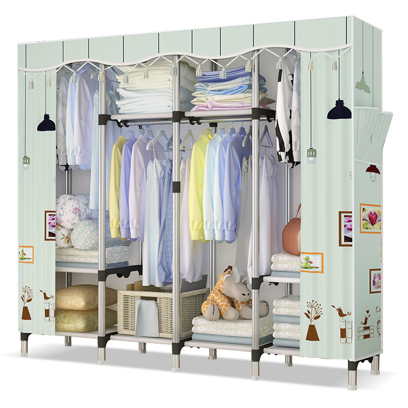 Portable Assemble Fabric Wardrobe Durable Clothing Storage ...