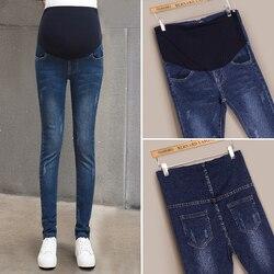 Мама джинсовый комбинезон брюки женские джинсы для беременных карандаш Опора Брюки Одежда для беременных одежда Большие размеры embarazada