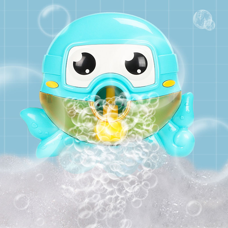 Kids Swimming Water Toys Newborns Baby Bath Bubble Machine Octopus Bubble Machine With Music Wash Play Cartoon Educational Toy
