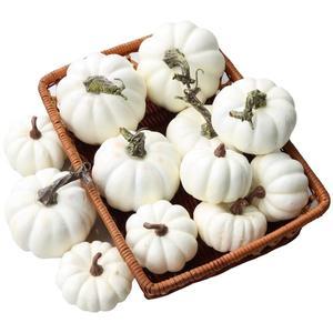 Gresorth 12 шт Поддельные белые тыквы Искусственные растительные украшения для дома и вечеринки кухни