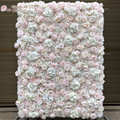 3D Artificial Flowers Wall Panel Wedding Decoration Fake Rose peony Backdrop Runners Home Decor GY638