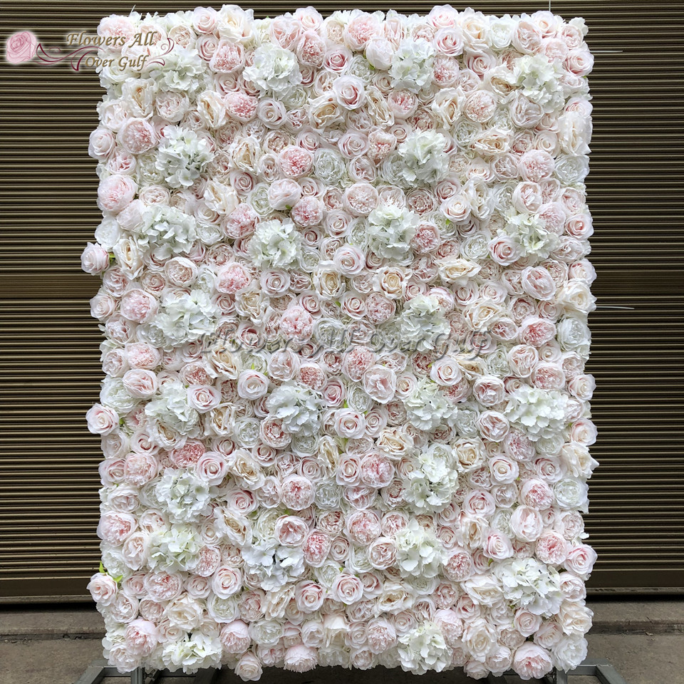 3D Artificial Flowers Wall Panel Wedding Decoration Fake Rose peony Backdrop Runners Home Decor