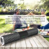 Wireless Bluetooth Speaker Stereo Outdoor Strip Shape Portable Strap Speaker With LED Display