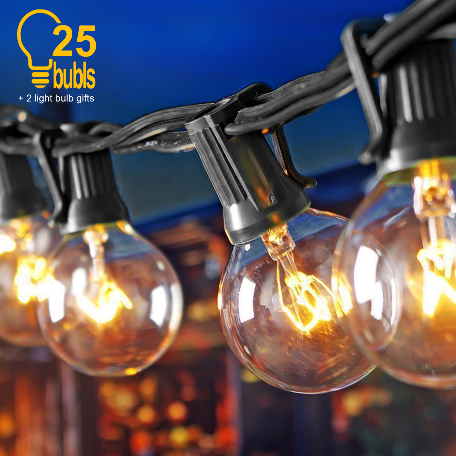 7 65m 10 Led String Bulbs Retro Vintage Lamp Fairy Festoon Holiday String Lights Wedding Christmas Party Garden Home Decor