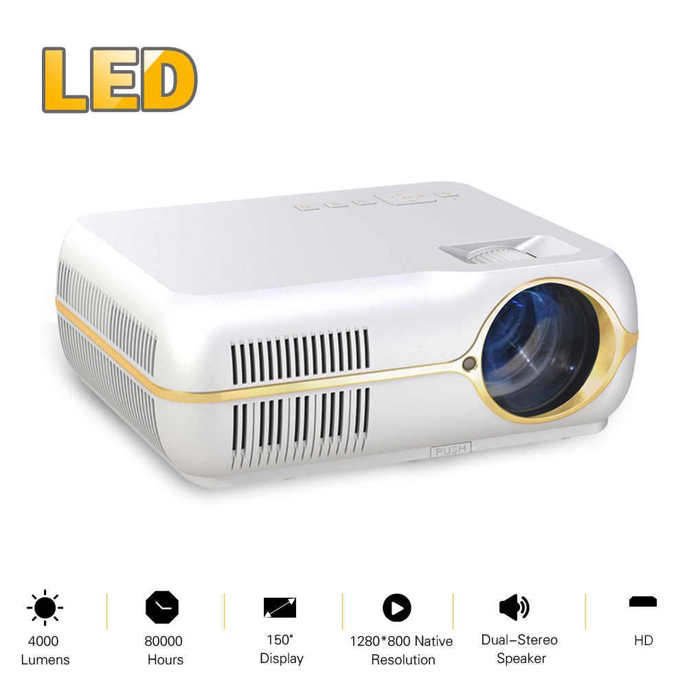 Домашний кинотеатр светодиодный проектор 4200 люмен 80000 часов лампы Поддержка жизни Full HD 1080 P видео игры с HD-IN USB VGA Аудио