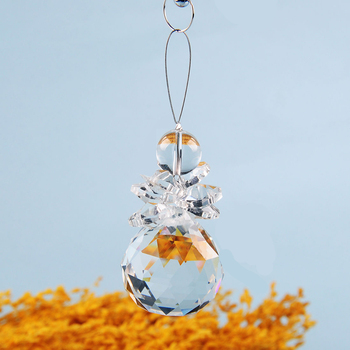 Handmade Crystal Suncatcher Feng Shui Prism Ball Pendant Ornament Wedding Decor  2018 New
