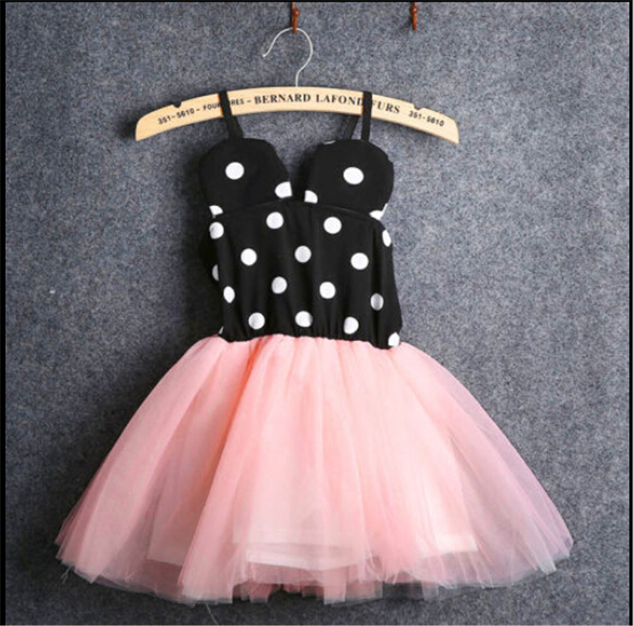 2019 New Fancy 1 Year Birthday Party Dress For Cosplay Minnie Mouse Dress Up Kid Costume Baby Girls Clothing For Kids 0-5T Wear