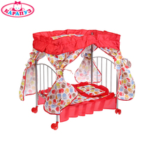 Кроватка КАРАПУЗ метталическая,  балдахин, подушка, матрас, одеяло, доставка от 2-х дней