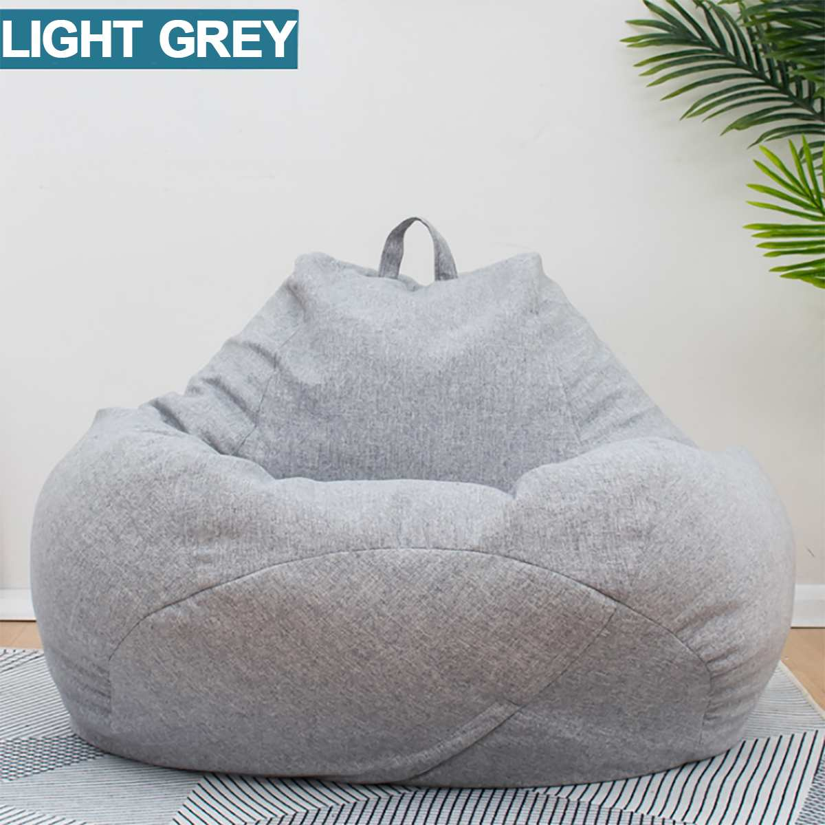 Lazy BeanBag Sofas Cotton Linen Cloth Lounger Seat Bean Bag Sofa Cover Chairs Pouf Puff Couch Tatami Living Room Furniture