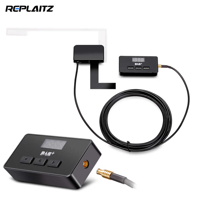 Universal Car DAB+ Radio Signal Receiver 3M Antenna + DAB Decoding Box for Car Android Player / Home Audio System DAB Device