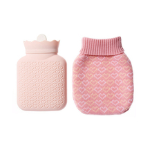 NEW HOT SELL Silicone Hot Water Bottle Injection Explosion-Proof Warm Bag Environmental Safety With Plush Cover
