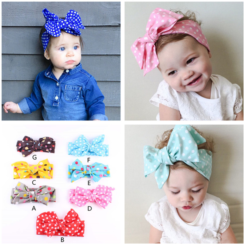 Baby Girls Floral Bows Kids Turban Knot Rabbit Headband Hair Bands Head Wrap Lot