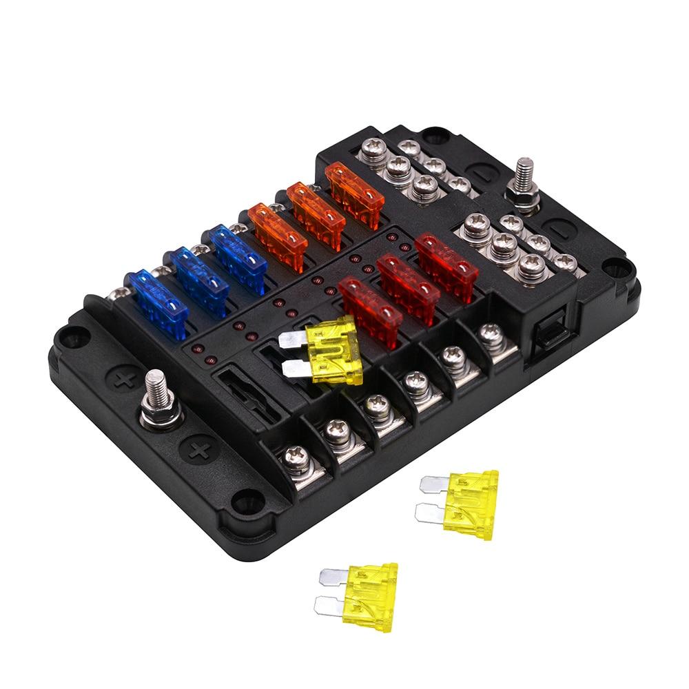 universal car blade fuse box automotive circuit fuse block. Black Bedroom Furniture Sets. Home Design Ideas
