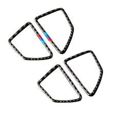 Dla BMW X5 X6 E70 E71 2008 2009 2010 2011 2012 2013 2 sztuk z włókna węglowego samochodów klimatyzacja odpowietrznik osłona wylotu