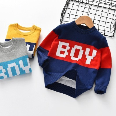 Baby Girl Sweater Cartoon Print Boys Knitted Pullover Autumn Winter Warm Thick Toddler Girls Tops Casual Kids Clothing 2-6 Years