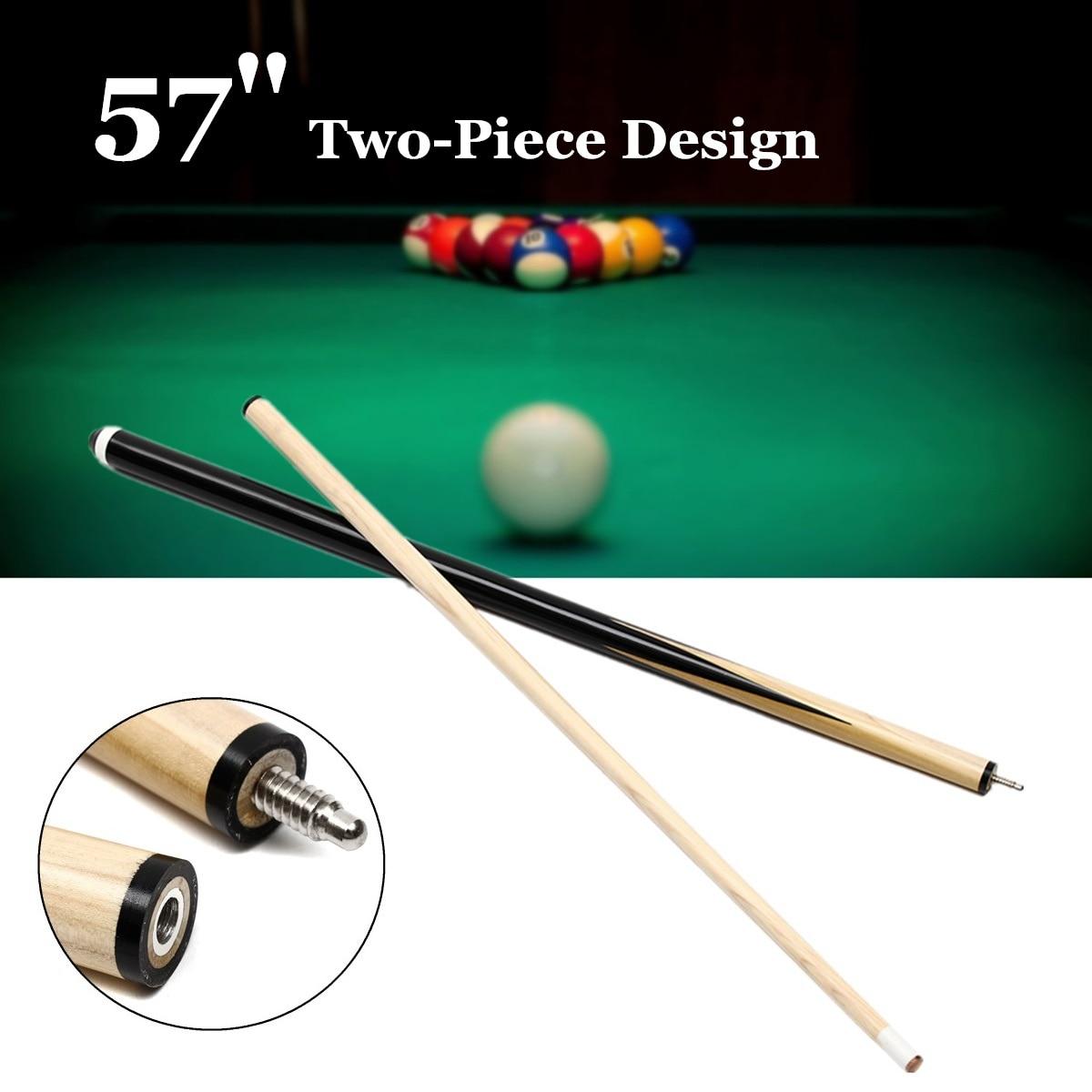 1Pcs 145cm 1/2 Structure Wooden Pool Cue Billiard House Bar Pool Cue Sticks Entertainmen ...